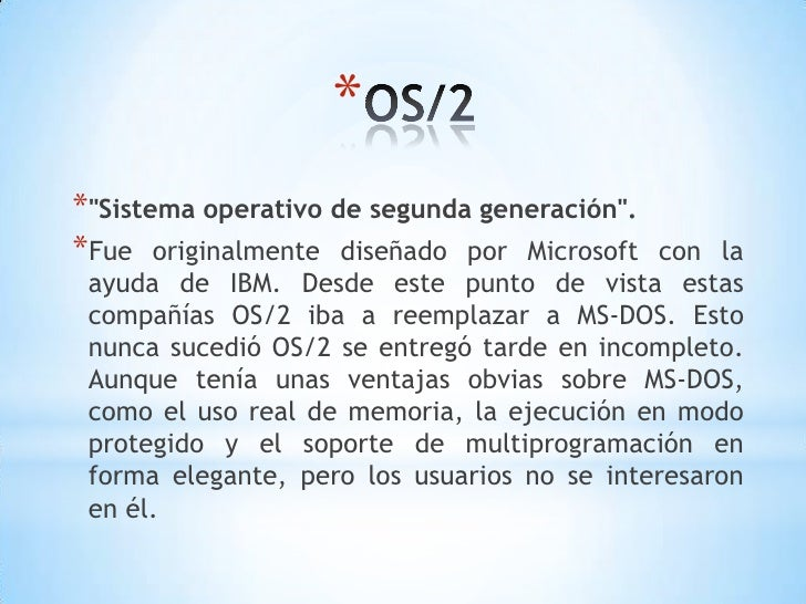 Sistema Operativo OS 2