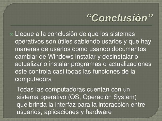 Sistema operativo de windows