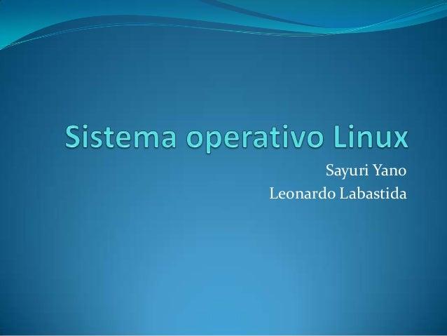 Sayuri Yano Leonardo Labastida