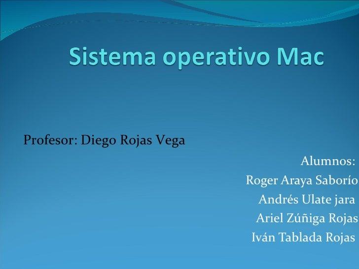 Alumnos:  Roger Araya Saborío Andrés Ulate jara  Ariel Zúñiga Rojas Iván Tablada Rojas  Profesor: Diego Rojas Vega