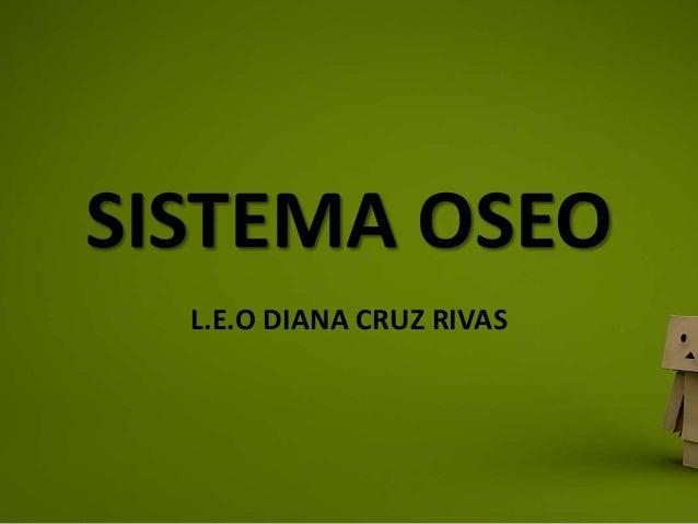 SISTEMA OSEO L.E.O DIANA CRUZ RIVAS