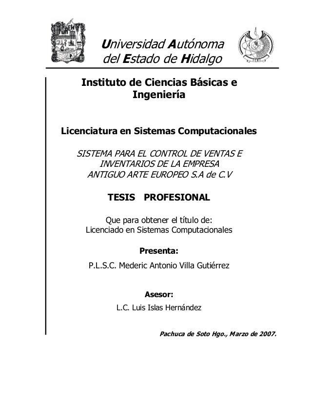 Universidad Autónoma        del Estado de Hidalgo    Instituto de Ciencias Básicas e               IngenieríaLicenciatura ...