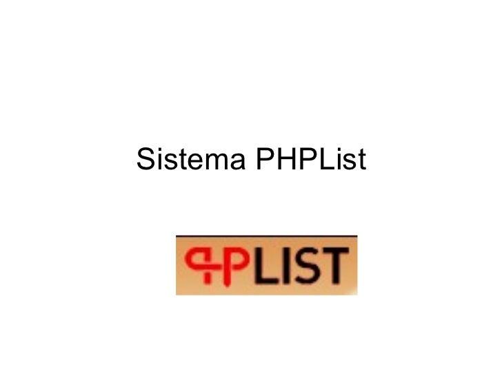 Sistema PHPList