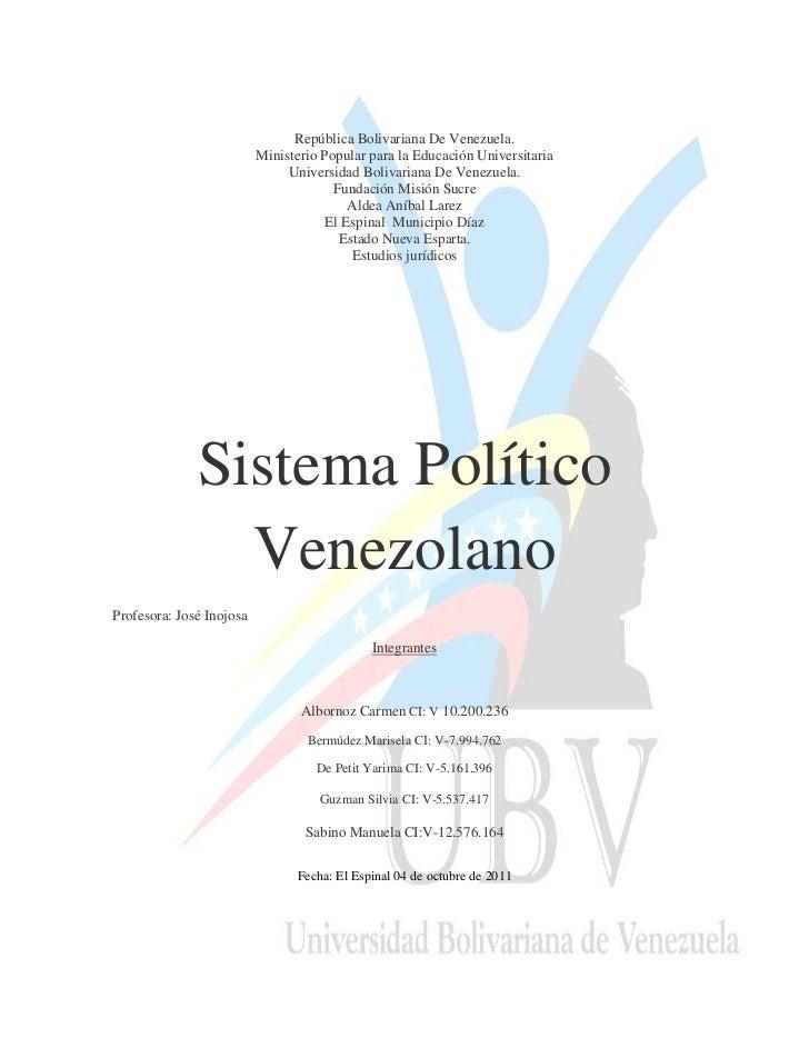 República Bolivariana De Venezuela.                          Ministerio Popular para la Educación Universitaria           ...