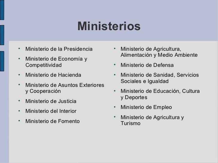 Sistema pol tico de espa a for Gobierno de espana ministerio del interior