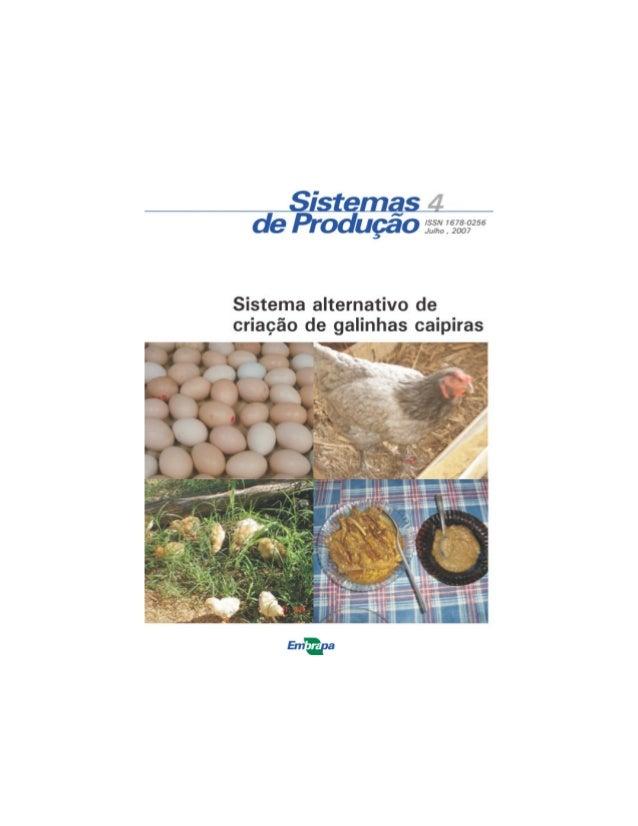 Sistemas de Produção 04 Teresina, PI 2007 Firmino José Vieira Barbosa Maria do Perpétuo S. Bona do Nascimento Fábio Mendon...