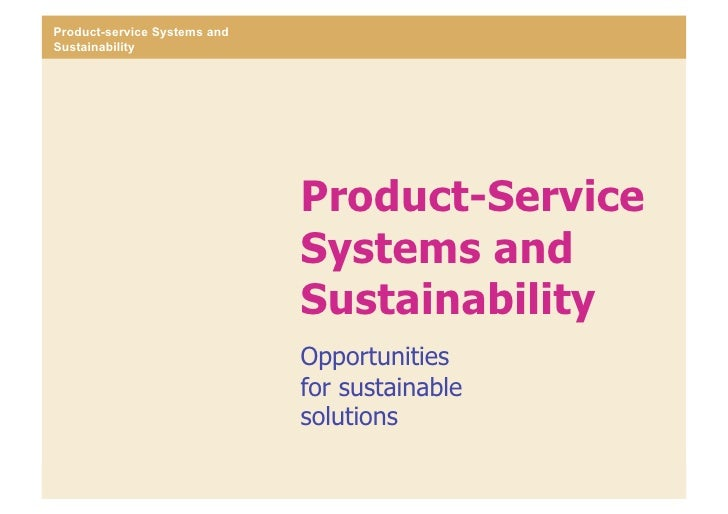 Product-service Systems and Sustainability                                                     Product-Service            ...