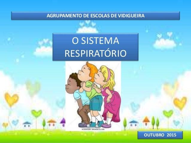 AGRUPAMENTO DE ESCOLAS DE VIDIGUEIRA OUTUBRO 2015 O SISTEMA RESPIRATÓRIO