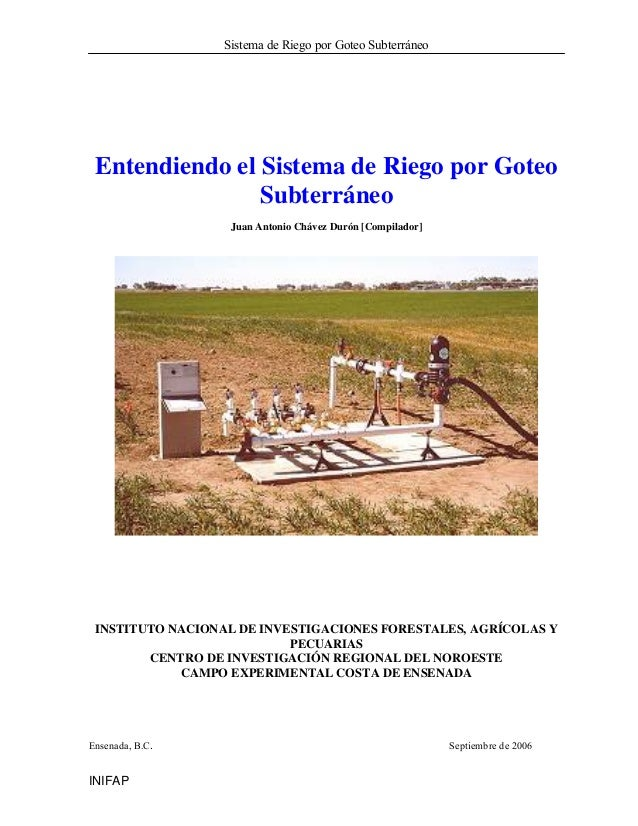 Sistema riego subterraneo para la alfalfa - Sistema riego goteo ...