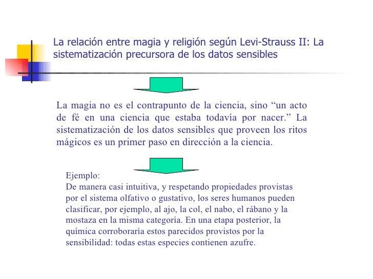 La relación entre magia y religión según Levi-Strauss II: Lasistematización precursora de los datos sensiblesLa magia no e...