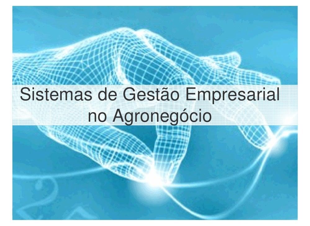 Sistemas de Gestão Empresarial            no Agronegócio     1