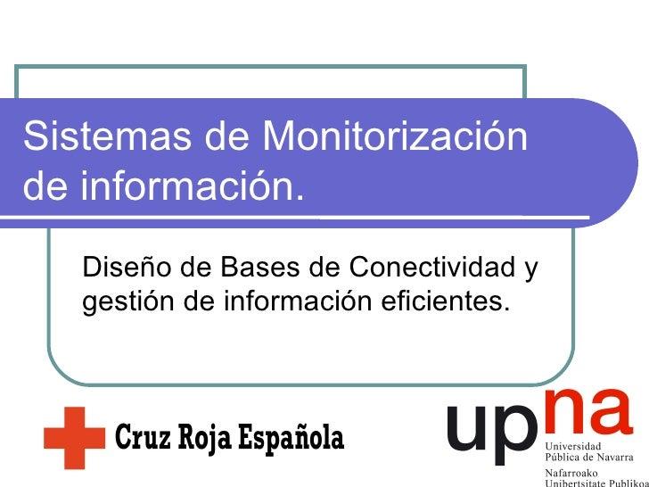 Sistemas de Monitorización de información. Diseño de Bases de Conectividad y gestión de información eficientes.
