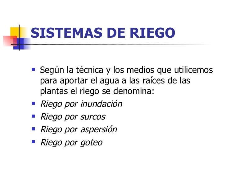 Sistemas de riego for Sistema de riego vertical