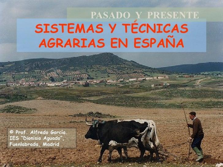 """SISTEMAS Y TÉCNICAS AGRARIAS EN ESPAÑA PASADO  Y  PRESENTE © Prof. Alfredo García. IES """"Dionisio Aguado"""", Fuenlabrada, Mad..."""