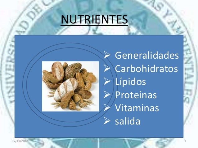 NUTRIENTES                             Generalidades                             Carbohidratos                 θ        ...