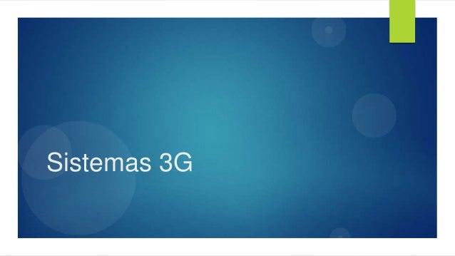 Sistemas 3G