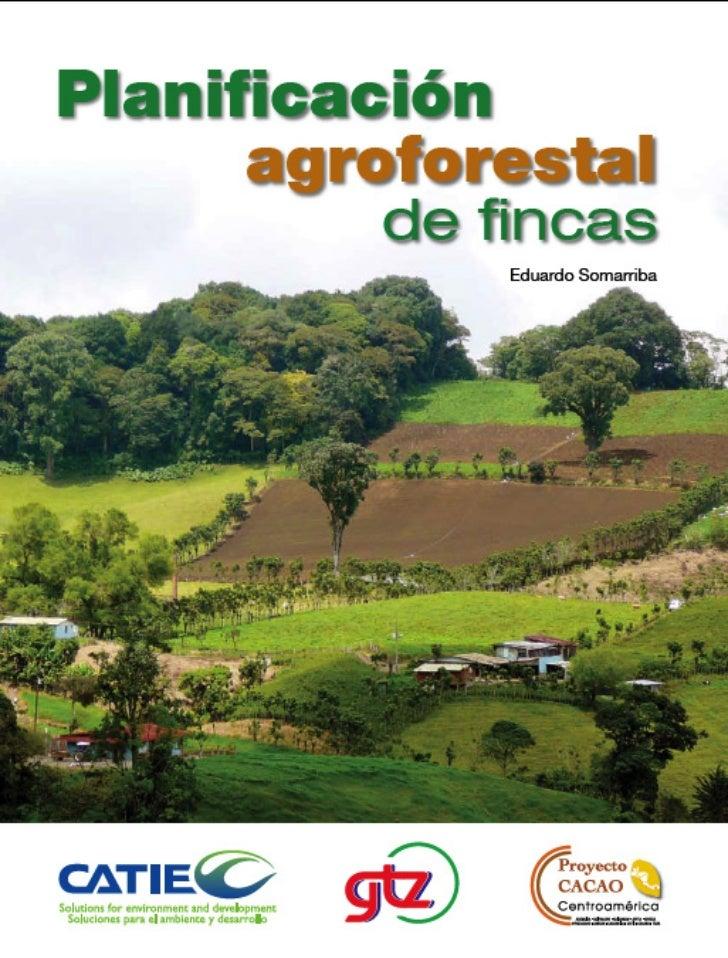 Materiales de Enseñanza No. 49Colección Módulos de Enseñanza Agroforestal No. 6       Planificación            agroforesta...