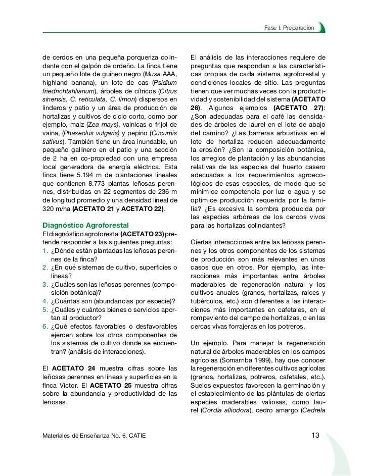 Planificación agroforestal de fincasodorata), roble de sabana (Tabebuia rosea)               alimentación, energía, materi...