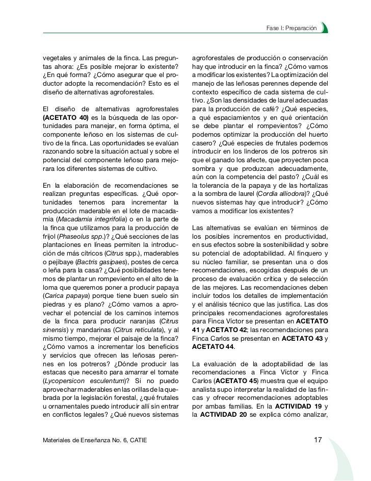 Planificación agroforestal de fincaspriorizar y ajustar las recomendaciones agro-                   ACTIVIDAD 7forestales ...