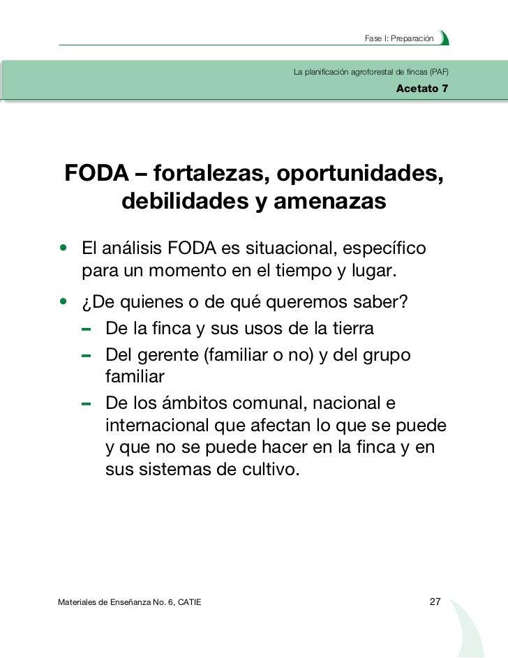 Planificación agroforestal de fincasLa planificación agroforestal de fincas (PAF)Acetato 8  Análisis de Medios de Vida (DF...