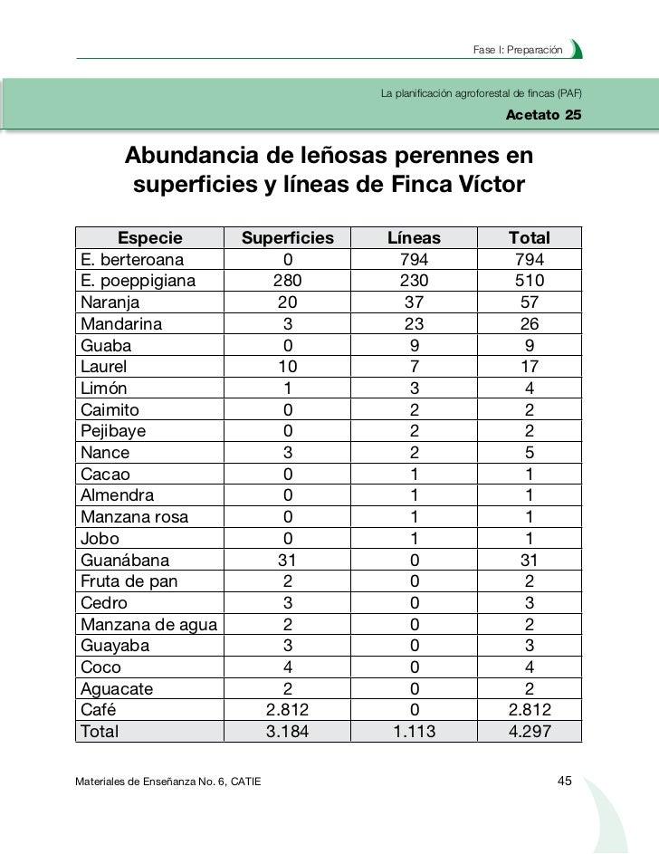 Planificación agroforestal de fincasLa planificación agroforestal de fincas (PAF)Acetato 26                Análisis de int...