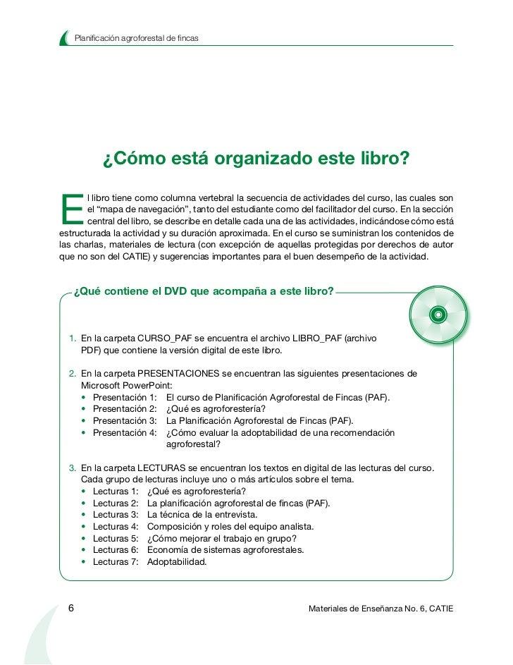 Planificación agroforestal de fincasTerminología y abreviaturas                        Una presentación en PowerPoint se c...
