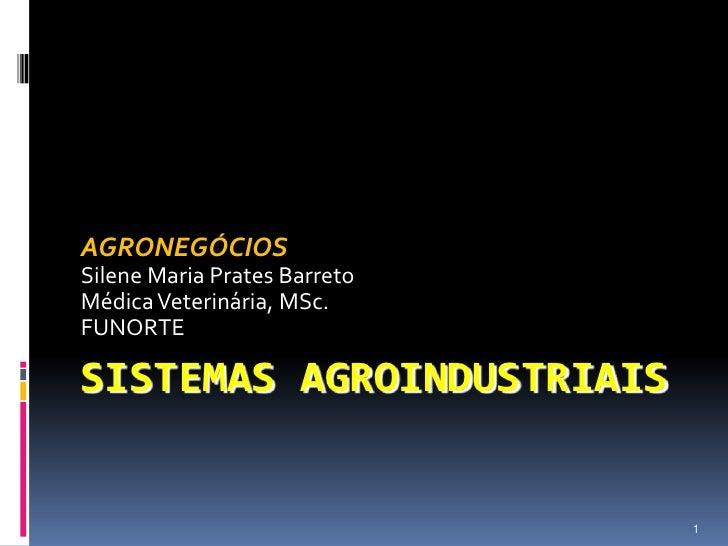 Sistemas agroindustriais