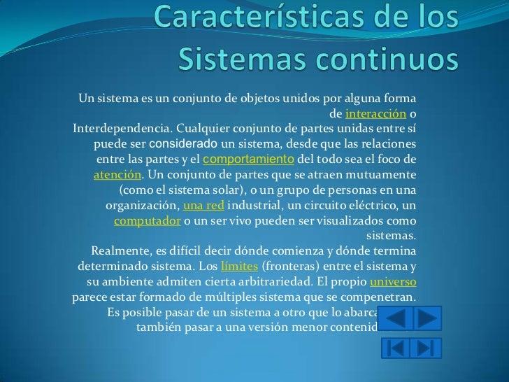 Sistemas Continuos