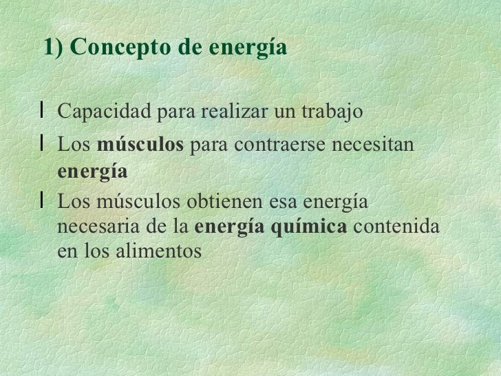 Sistemas de producción de energía para la actividad física Slide 2