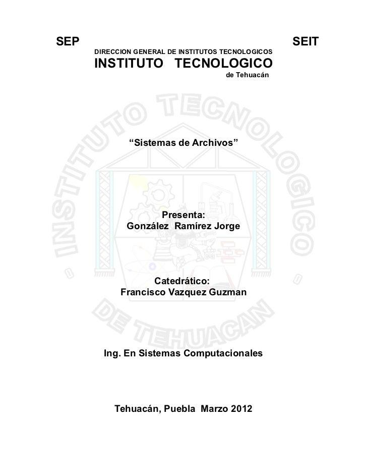 SEP                                                  SEIT      DIRECCION GENERAL DE INSTITUTOS TECNOLOGICOS      INSTITUTO...