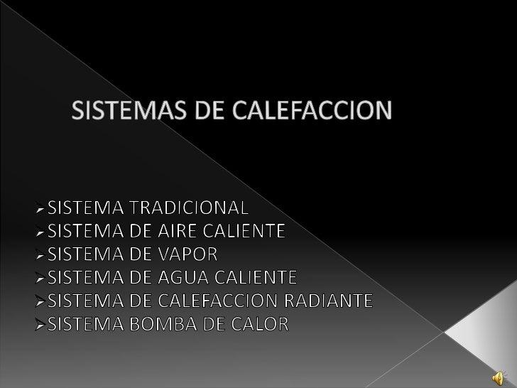 Sistemas de calefaccion expo con audio - Sistema de calefaccion economico ...