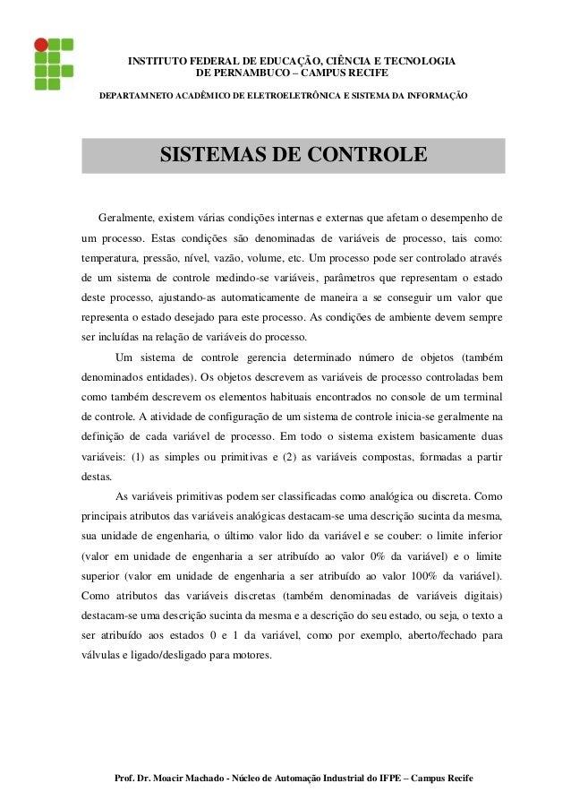INSTITUTO FEDERAL DE EDUCAÇÃO, CIÊNCIA E TECNOLOGIA DE PERNAMBUCO – CAMPUS RECIFE DEPARTAMNETO ACADÊMICO DE ELETROELETRÔNI...