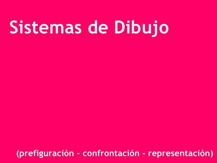 Sistemas de Dibujo (prefiguración – confrontación - representación)