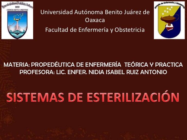 Universidad Autónoma Benito Juárez de                          Oaxaca            Facultad de Enfermería y ObstetriciaMATER...