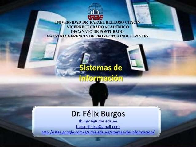 UNIVERSIDAD DR. RAFAEL BELLOSO CHACÍN VICERRECTORADO ACADÉMICO DECANATO DE POSTGRADO MAESTRIA GERENCIA DE PROYECTOS INDUST...