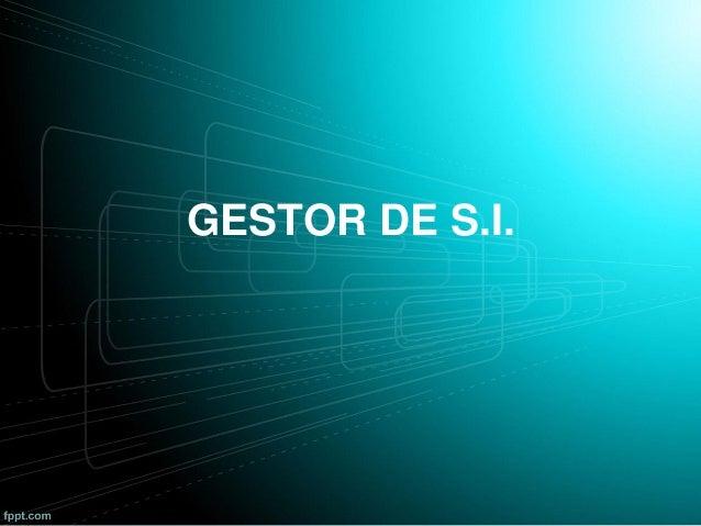 GESTOR DE S.I.