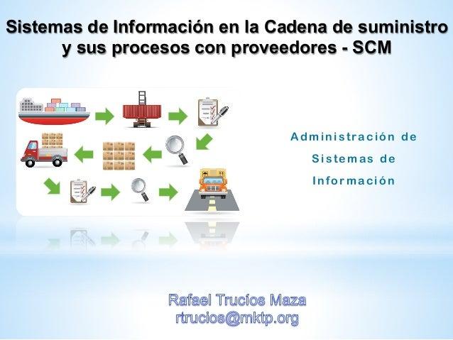 Sistemas de Información en la Cadena de suministro y sus procesos con proveedores - SCM Administración de Sistemas de Info...