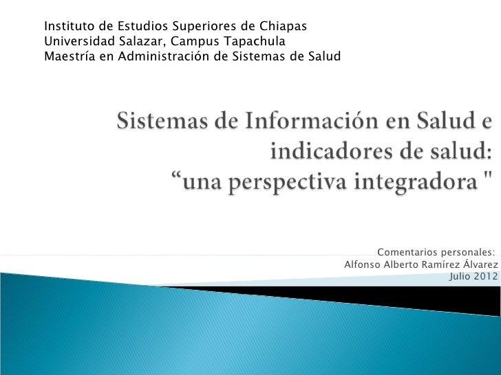 Instituto de Estudios Superiores de ChiapasUniversidad Salazar, Campus TapachulaMaestría en Administración de Sistemas de ...