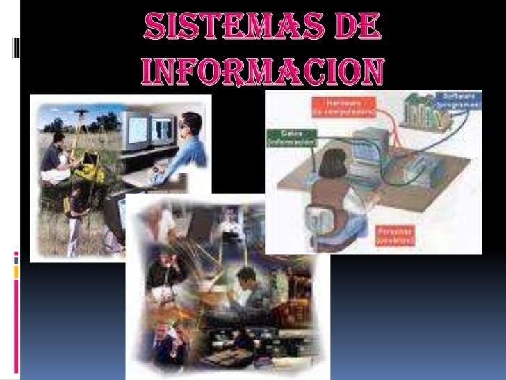 Sistemas de informacion<br />