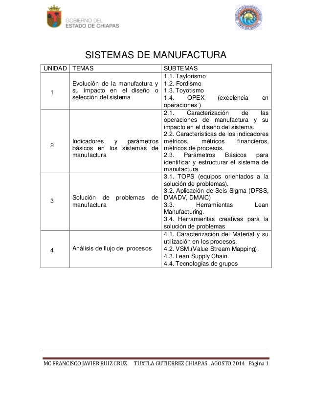 Sistemas de manufactura Slide 2
