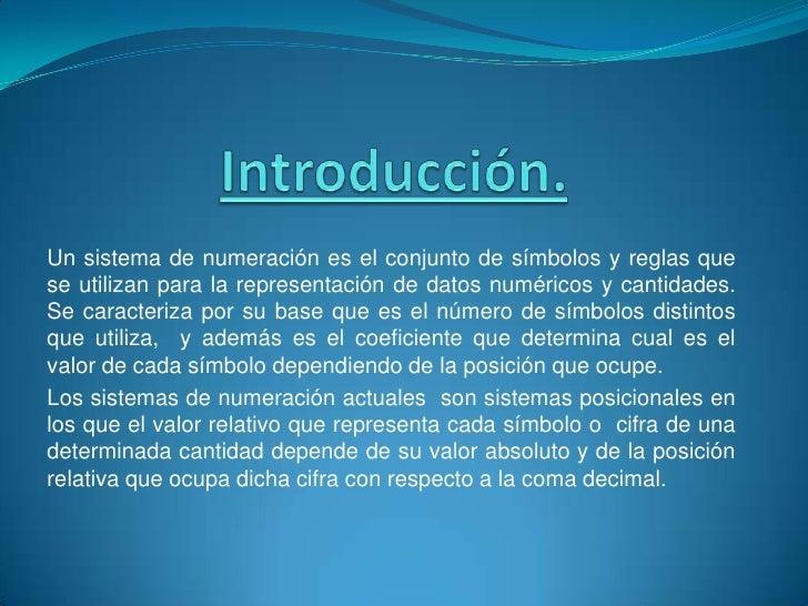 Sistemas de Numeración Slide 2
