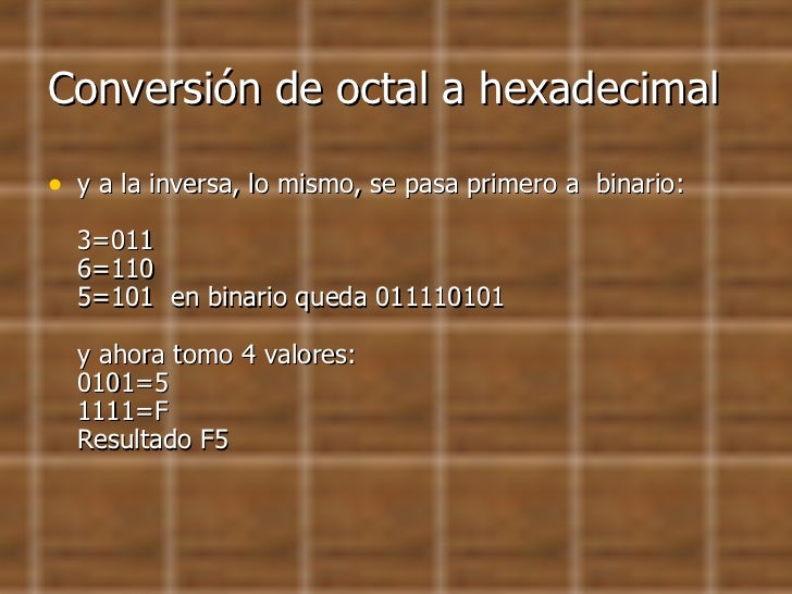 Conversion of Binary Octal and Hexadecimal Numbers