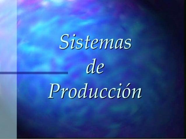 SistemasdeProducción