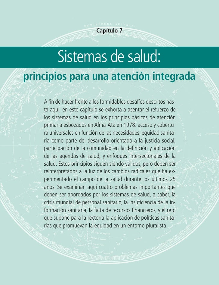 Sistemas de salud: principios para una atención integrada   115                                    Capítulo 7             ...