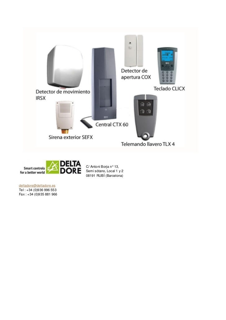 Sistemas de seguridad de delta dore - Sistemas de seguridad ...