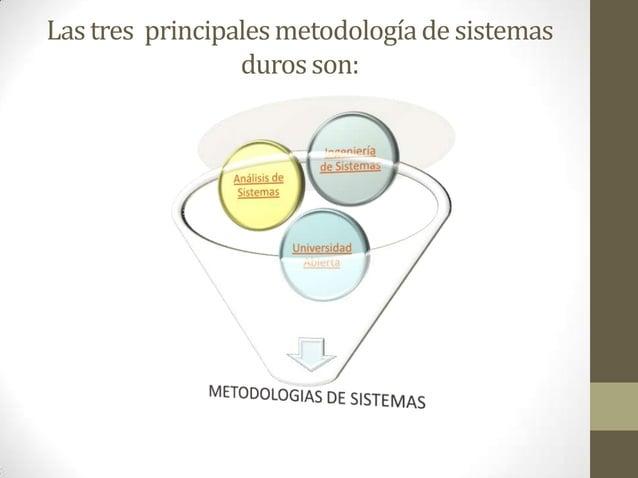 Lastres principalesmetodologíade sistemas durosson: