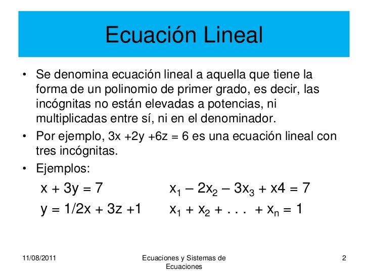 Sistemas ecuaciones lineales
