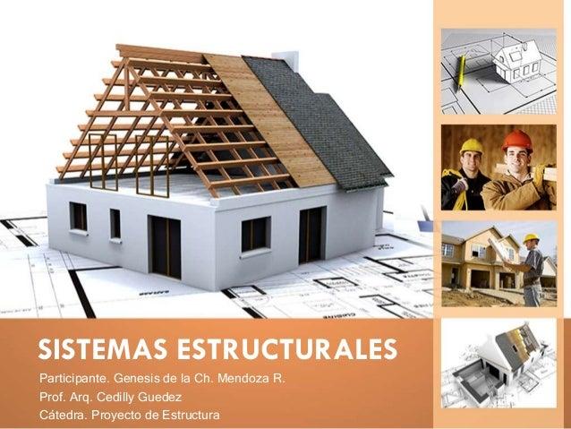 SISTEMAS ESTRUCTURALES Participante. Genesis de la Ch. Mendoza R. Prof. Arq. Cedilly Guedez Cátedra. Proyecto de Estructura