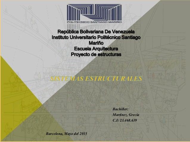 República Bolivariana De Venezuela Instituto Universitario Politécnico Santiago Mariño Escuela Arquitectura Proyecto de es...