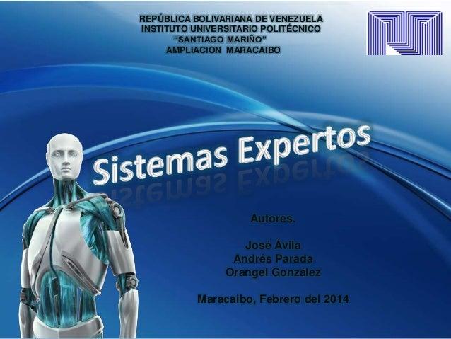 """REPÚBLICA BOLIVARIANA DE VENEZUELA INSTITUTO UNIVERSITARIO POLITÉCNICO """"SANTIAGO MARIÑO"""" AMPLIACION MARACAIBO  Autores.  J..."""